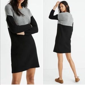Madewell Black Gray Merino Wool Sweater NEW